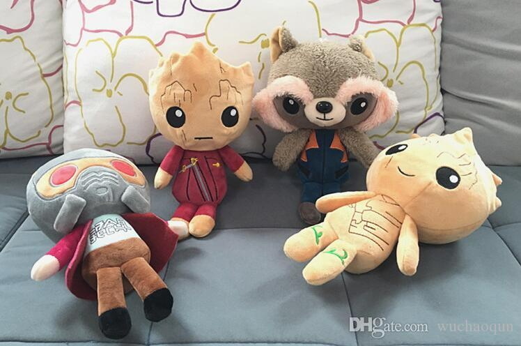 20cm gardiens de la galaxie en peluche poupées gardiens de la galaxie en peluche jouets en peluche enfants jouets cadeau de noël pour enfants
