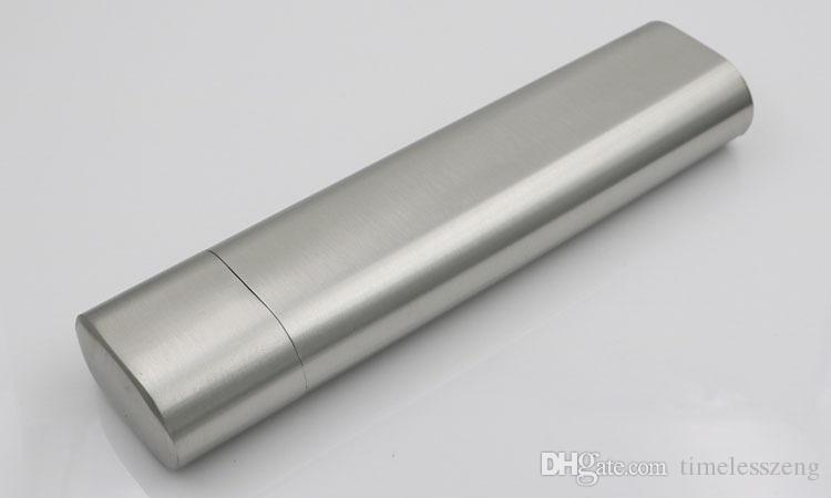 High grade portable double tube cigar and wine tube 2oz Stainless steel hip flask cigar smoking set New arrivel