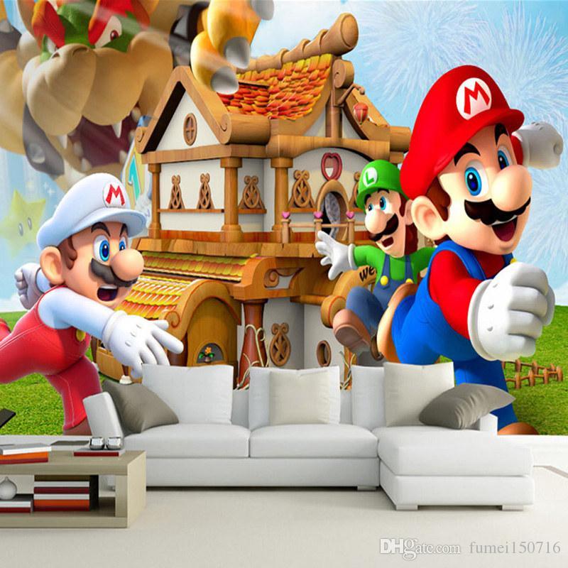 Super Mario Net Wand Hintergrund nahtlose Tapete Decke Decke große Fresko  Internet Bar LoL Theme Wallpaper