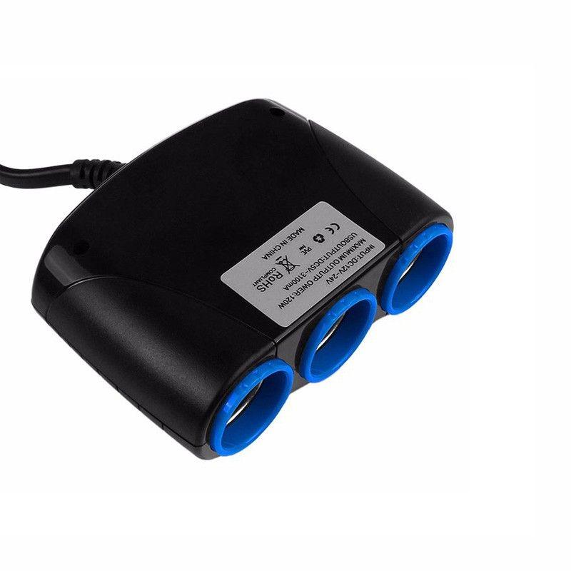 Adaptateur allume-cigare allume-cigare de voiture automatique de prise 120W
