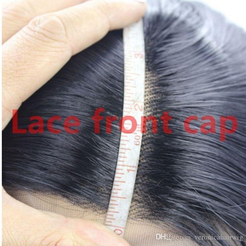 Natural Hairline 1b # Nero corto parrucca riccia merletto anteriore le donne nere Fibra resistente al calore parrucca glueless sintetico 12inch separazione laterale 150%