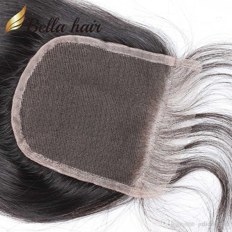 HD أعلى الدانتيل إغلاق 4 * 4 100٪ البرازيلي بيرو الهندي الماليزية العذراء الإغلاق الشعر البشري 8