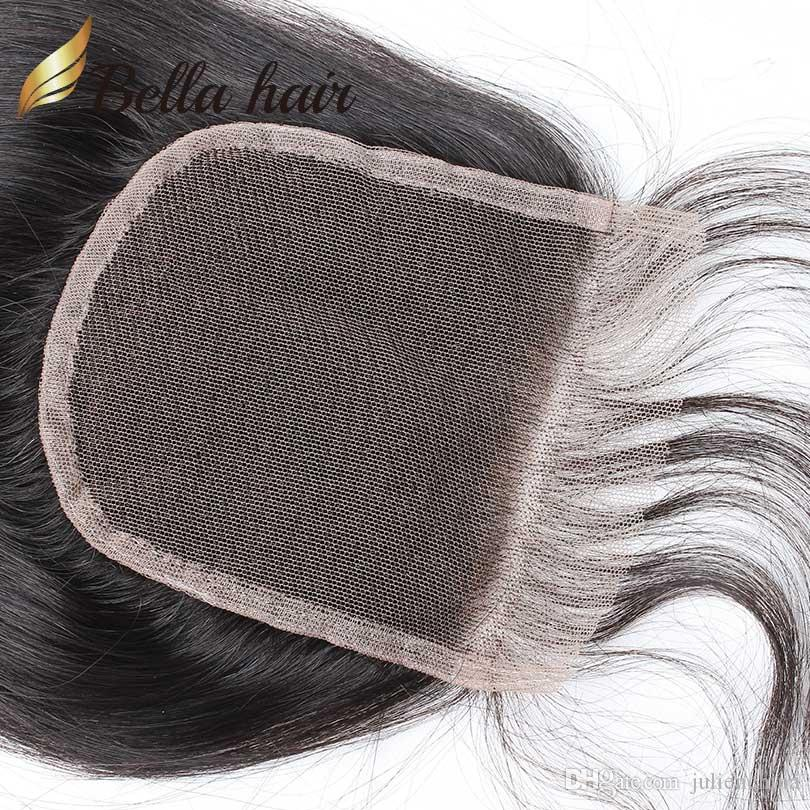 HD TOP 레이스 클로저 4 * 4 100 % 브라질 페루 인도 말레이시아 버진 인간의 머리카락 폐쇄 8