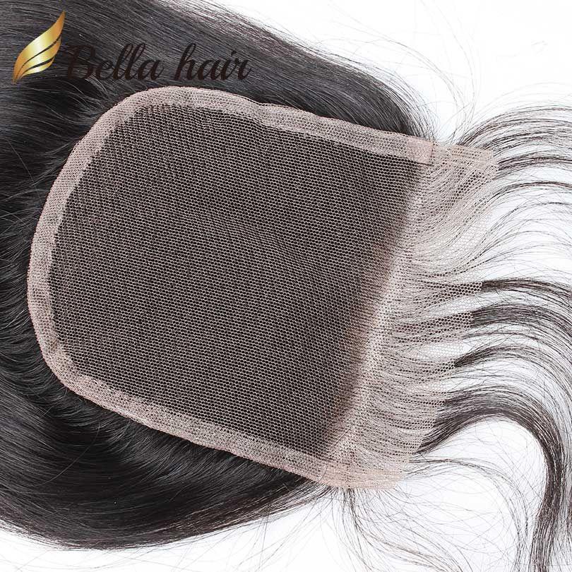 HD Top Spitze Verschluss 4 * 4 100% Brasilianisches peruanisches indisches Malaysischer Jungfrau Menschliches Haarverschluss 8