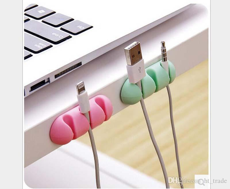 Cable Winder Earphone Cable Organizer Wire Storage Silicon Charger Cable Wrap Cord Holder Clips For MP3 MP4 Mouse Earphone