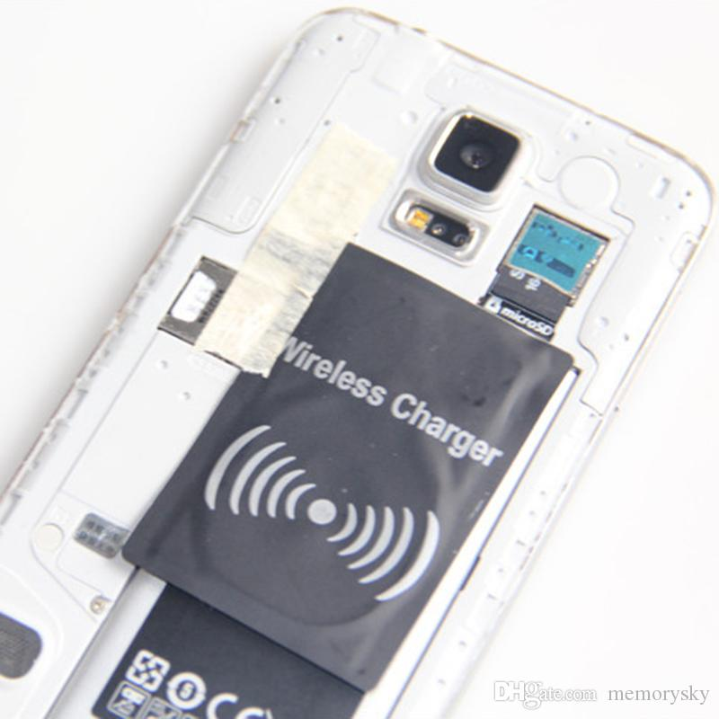 Qi Wireless Charger Receiver Charging Adapter Receptor Receivers Pad Coil For Samsung Galaxy S3 S4 S5 i9500 i9600 Note2 Note3 Note4 N7100