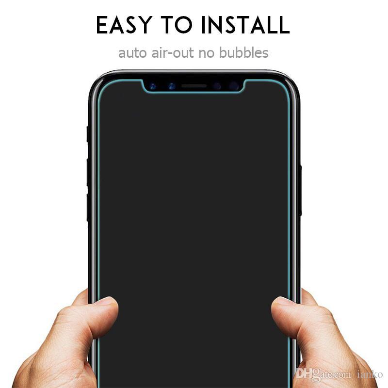 ارتفاع كويليتي الزجاج المقسى ل iPhone Xs ماكس حامي الشاشة 0.26mm رقيقة جدا 9H فيلم واقية ل X-Xr-8-7-6 / Plus مربع التجزئة