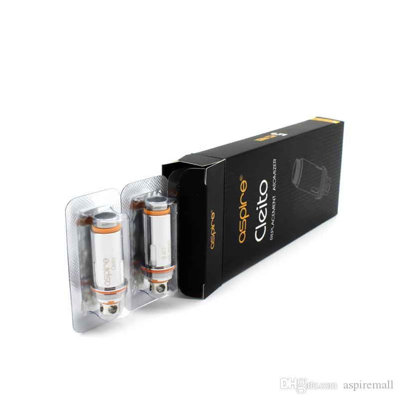 100% original Aspire Cleito Bobines .2OHM .4OHM .27OHM COIL DE CLAPTON POUR ASPIRE CLEITO SUB SOUS-OHM Tanks Aspire K4 Kit Kit Cigarettes électroniques
