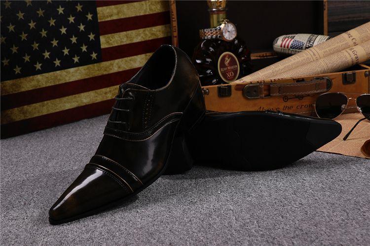 New Han Edition High Tide с увеличенной кожаной обувью с британским верхом Кожаная обувь для британских мужчин