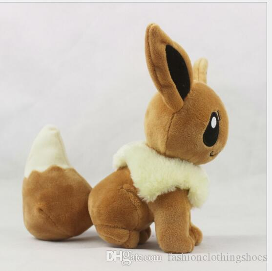 Poke Plush Size 20cm Plush Toy Eevee Soft Stuffed Animal Rare Cool Collectible Doll Xmas Gift for Kids Boys Hot Sale