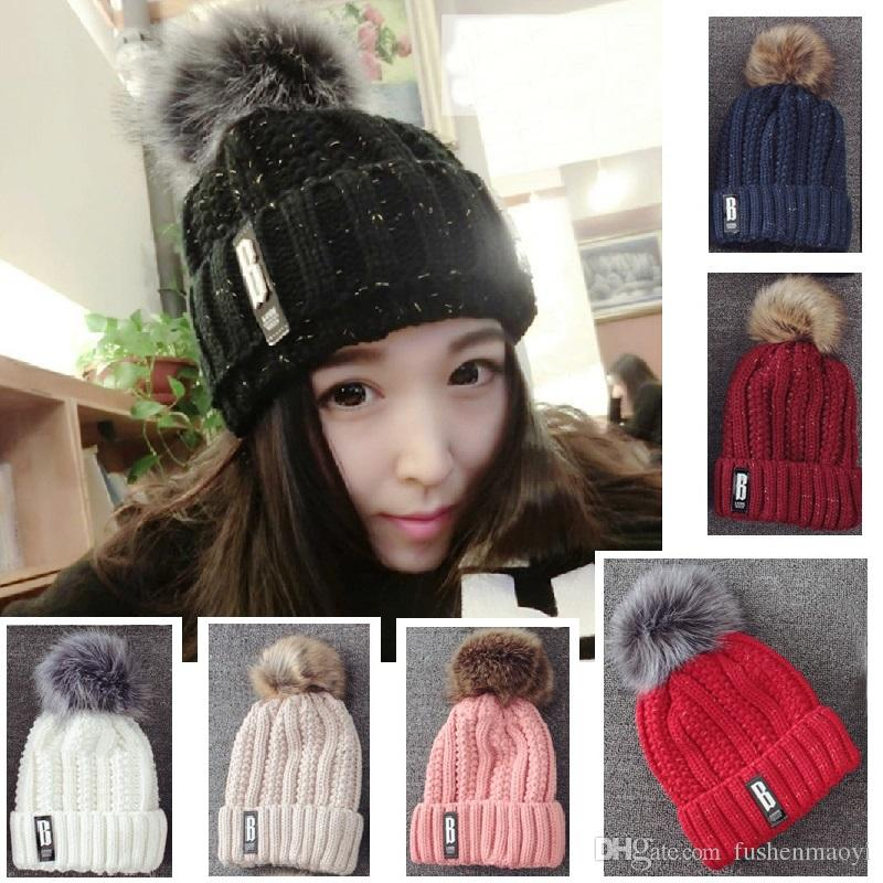 Winter Warm Wool Hats B G Stone Beanies Women And Man Outdoor Warm Caps 7  Styles Black Baseball Cap Knitted Hats From Fushenmaoyi 432645f94c8