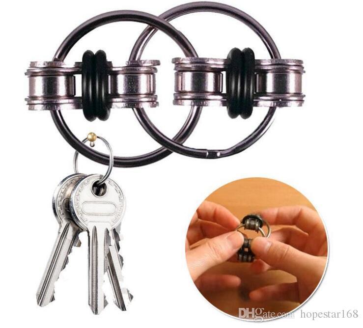 Брелок металлический гироскоп игрушка непоседа Spinner игрушка профессиональный EDC стресс релиз игрушка против Ручной счетчик непоседа цепи DHL доставка