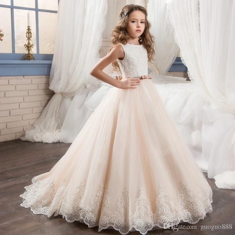 Cloud Little Flower Girls Dresses for Weddings Baby Party Frocks Sexy Children Images Dress kids Prom Dresses Evening Gowns 2017
