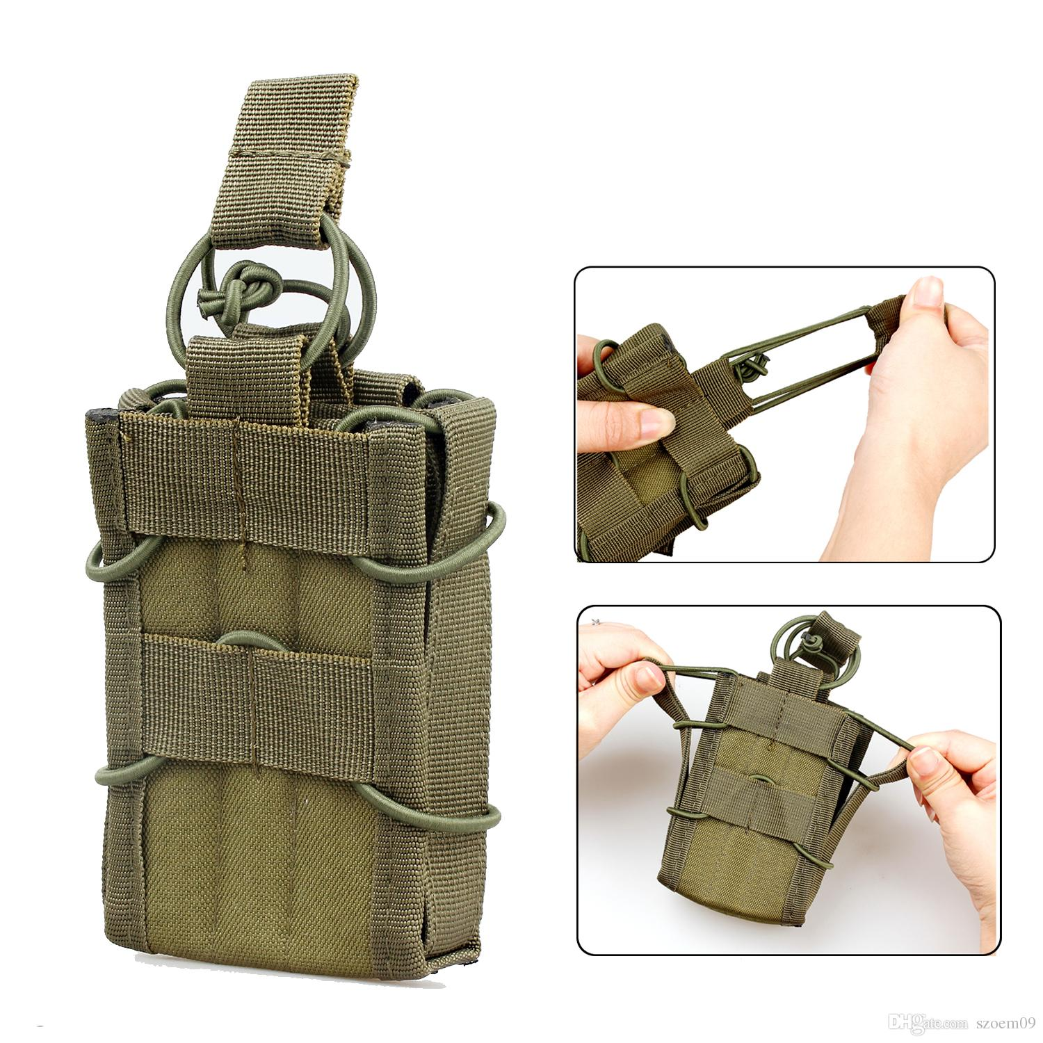 2019 Magazine Holder Tactical Molle Compatible Single Stacker Open