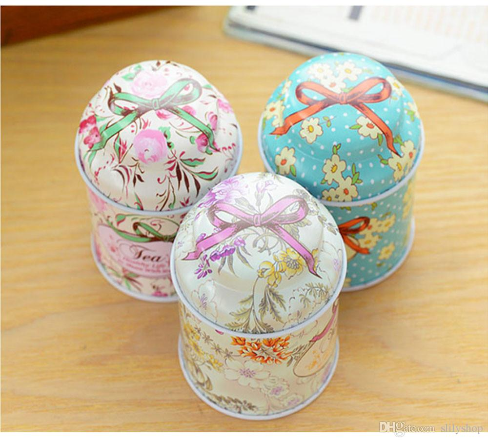 Europe type style Tea caddy receive box candy storage box wedding favor tin box cable organizer container household