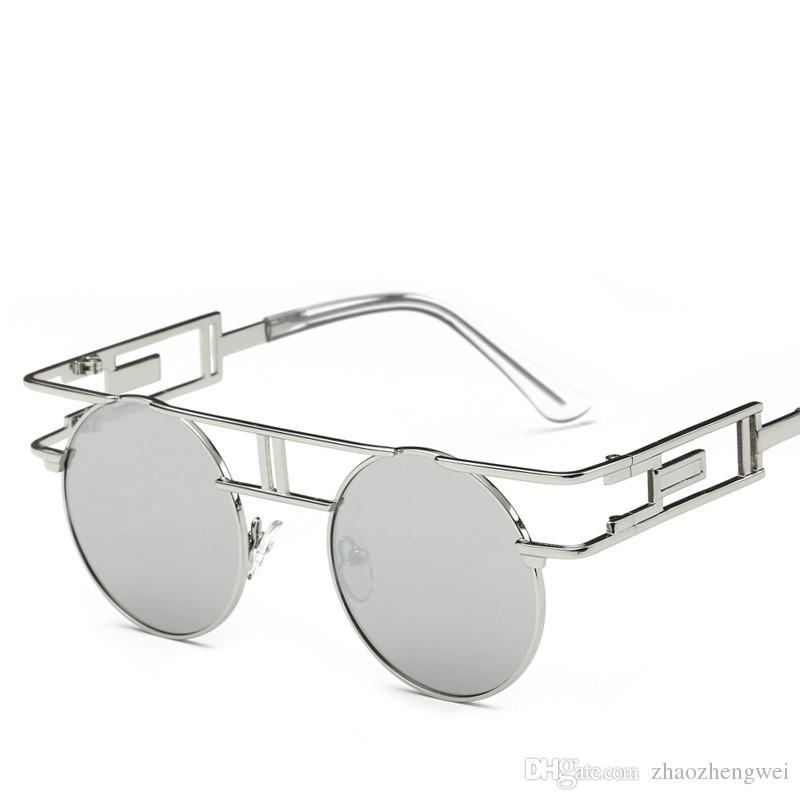 Europäische Und Amerikanische Mode-Metall Bambus Sonnenbrille,BlackBoxGray