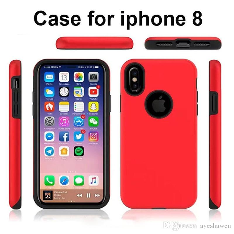 For IPhone 8 Case Chinese Red All Inclusive Hard Shell