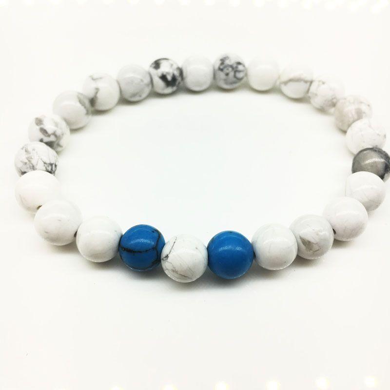 2020 nuova pietra opaca set di yoga blu Handmade all'ingrosso borda Buddha Pietra braccialetto bracciali naturali Roccia vulcanica gli uomini i monili delle donne