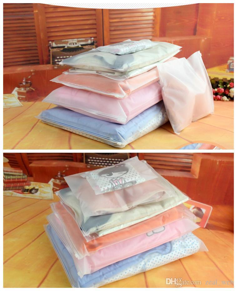 도매 PE 플라스틱 고품질 의류 포장 가방 다중 크기 천으로 저장 지퍼 지퍼 허용 허용 Customeize
