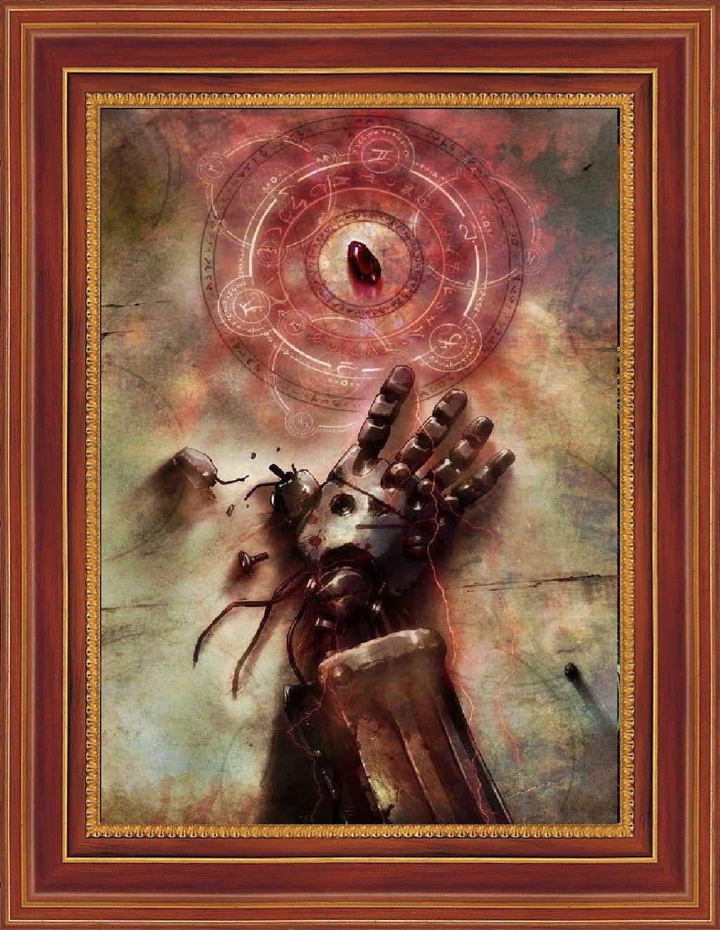 2017 single unframed fullmetal alchemist anime steel hand painting
