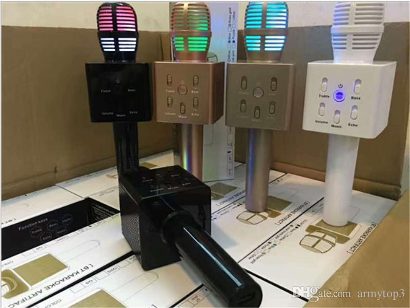 Neue Q7 Wireless Mini-Mikrofon Startseite KTV Karaoke-Mikrofon-Player Bluetooth-Lautsprecher für Home-Party für iPhone Samsung