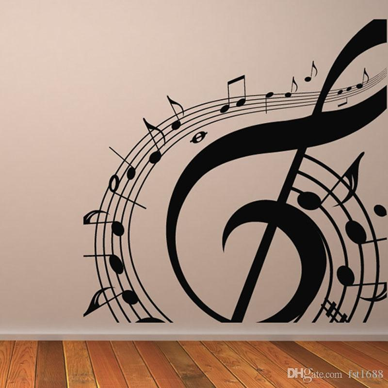 M-003 DIY Musical Notation Home Decor Music Wall Sticker Removable Vinyl Guitar Music Decal Babys Room Home Decoration