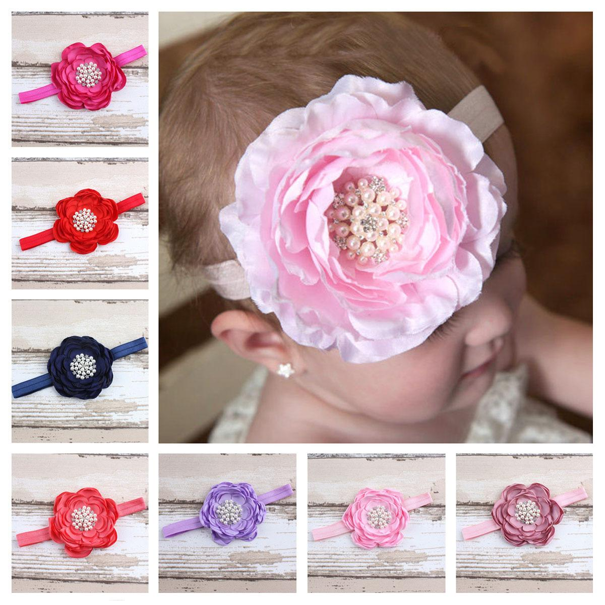 Children Pearl Flower Headband Hairband Baby Fashion Loose Hair Band