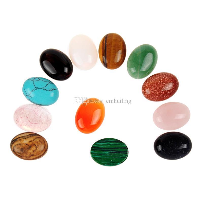Assorted 15x20mm Chakra perline goccia d'acqua Druzy turchese opale CAB Cabochon Reiki pietra colore casuale all'ingrosso anelli femminili che fanno