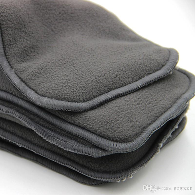 Naughty Baby Charcoal Bamboo 5 Layers Reusable Baby Cloth Diapers pads Nappy Inserts