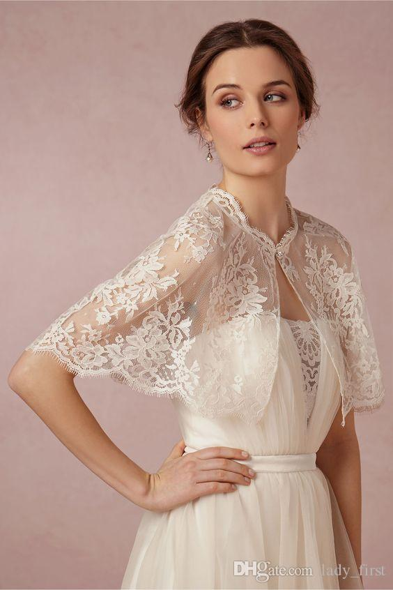 2018 Vintage Full Lace Bridal Wraps Jackets With Sheer Jewel Neck 2016 Fashion Capes Coats For Wedding Gowns In Stock From Lady First