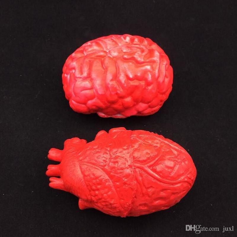 Simülasyon İnsan Organları Sahne Korku Kanlı Insan Beyin Gözler Kalp Kırık Parmak Cadılar Bayramı Partisi Kostüm Aksesuarları Süslemeleri