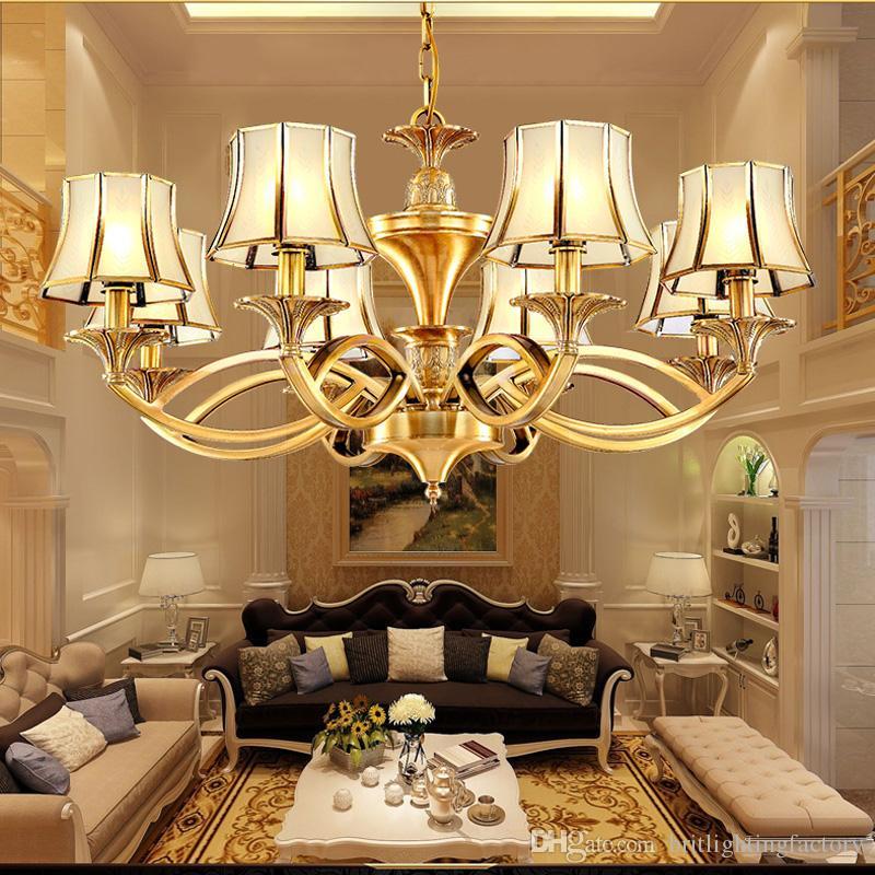 Großhandel Europäischen Stil Wohnzimmer Kronleuchter Retro