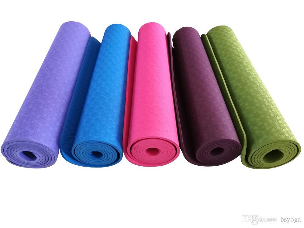 2019 B   S Yoga Extra Long TPE Exercise Yoga Mat Non Slip At 72 X 24 X 1 4  6mm Thickness With Carrying Strap From Bsyoga a9a3b75630a52