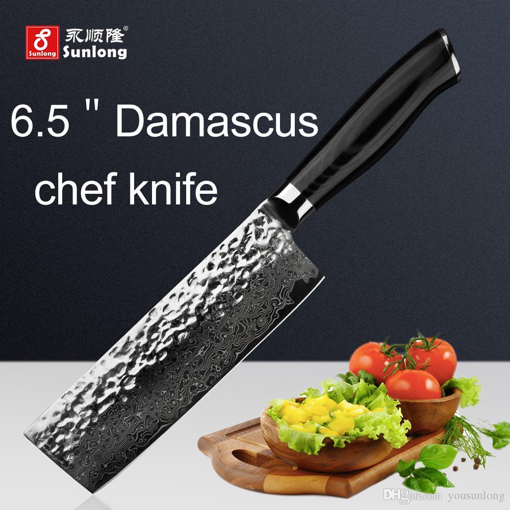 acheter sunlong chef couteau japon damas en acier tranchage couteaux