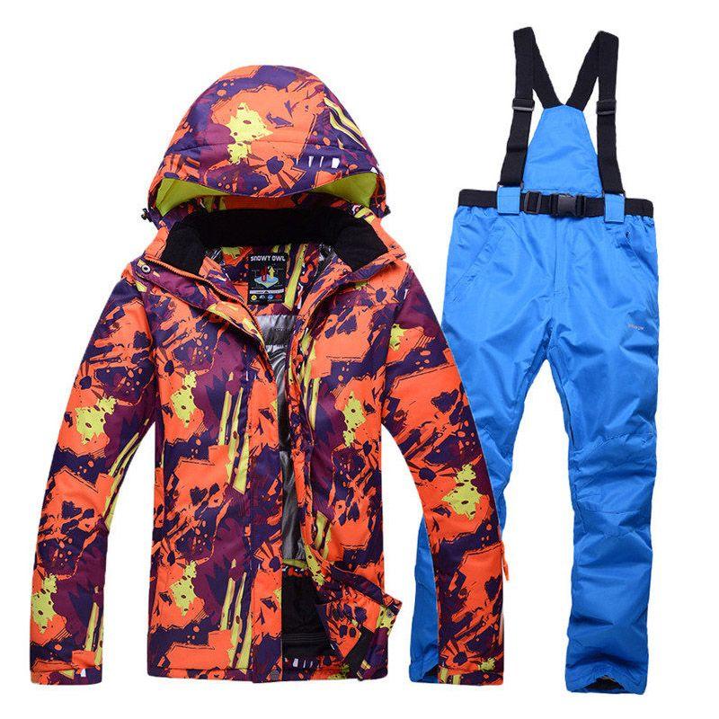 4d244074d7 Wholesale- 2017 Winter Outdoor Men s Ski Suit Suit Waterproof ...
