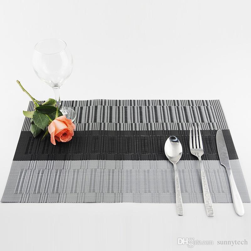 Placemat do PVC para a almofada da esteira de tabela Bebida Porta-copos do vinho Bamboo Placemats Tabela de jantar Mat WA1432