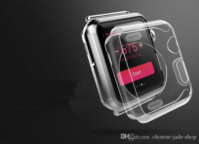 TPU Case For Apple Watch iwatch 1 2 3 Crystal Clear TPU Soft Cover 38mm 42mm