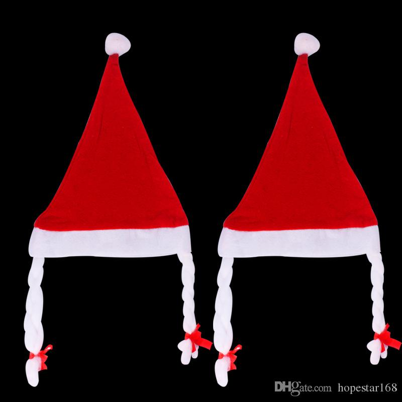 28cm * 35cm 크리스마스 모자 산타 클로스 모자 패션 부직포 크리스마스 선물 장식 가장 저렴한 파티 크리스마스 산타 클로스 모자