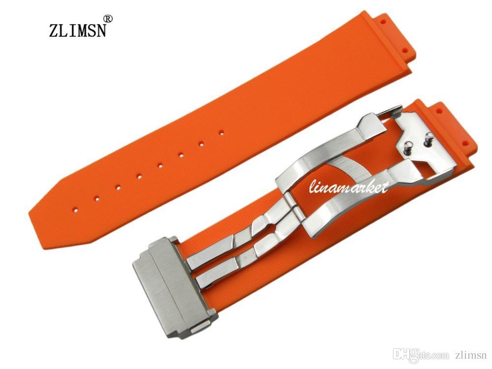 c12c18302a6 Diving Silicone Rubber WatchBAND 26mm 19mm NEW Men Orange Strap Men Women Watch  Watches Sport Mens Watches Strap Band Belt G S HUB036H Rubber Watch Bands  ...