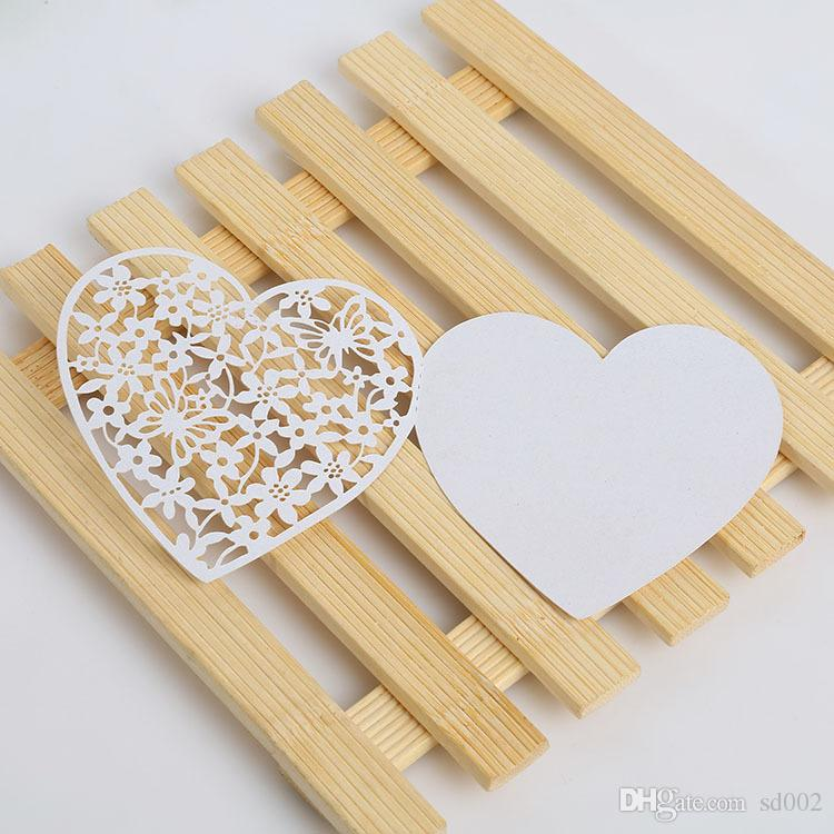 Greeting Cards Heart Shaped Creative Wedding Invitation Message Card
