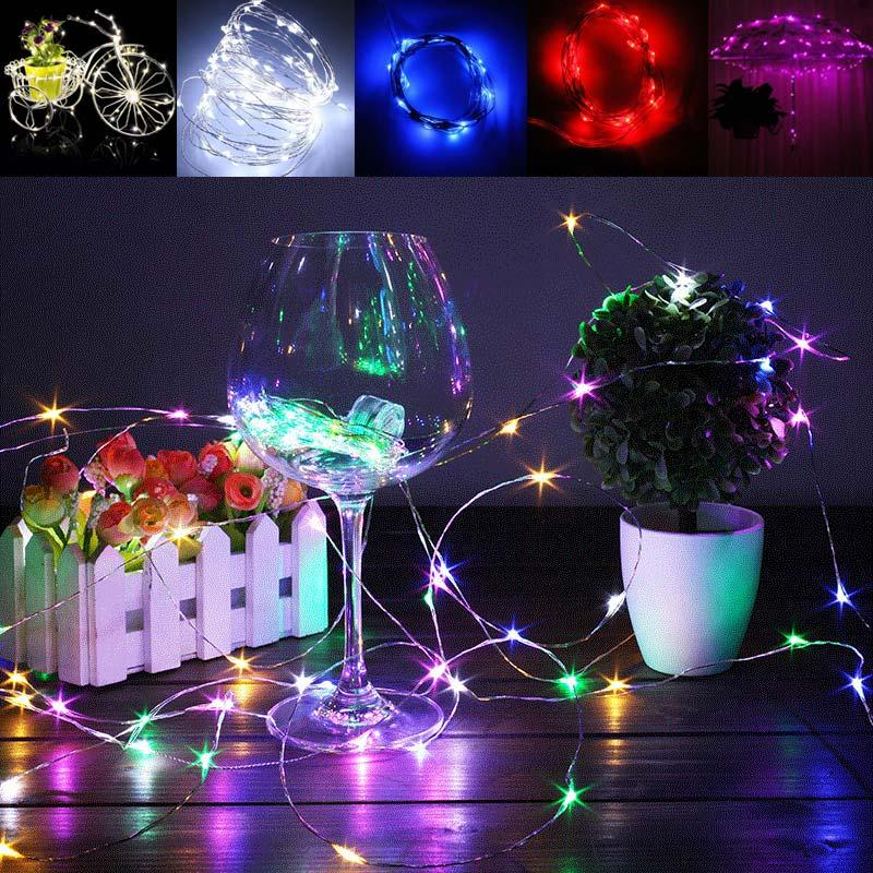 wholesale 2m 20 led wedding party light christmas led string fairy bulb garland birthday garden curtain decor clh8 outdoor patio string lights commercial