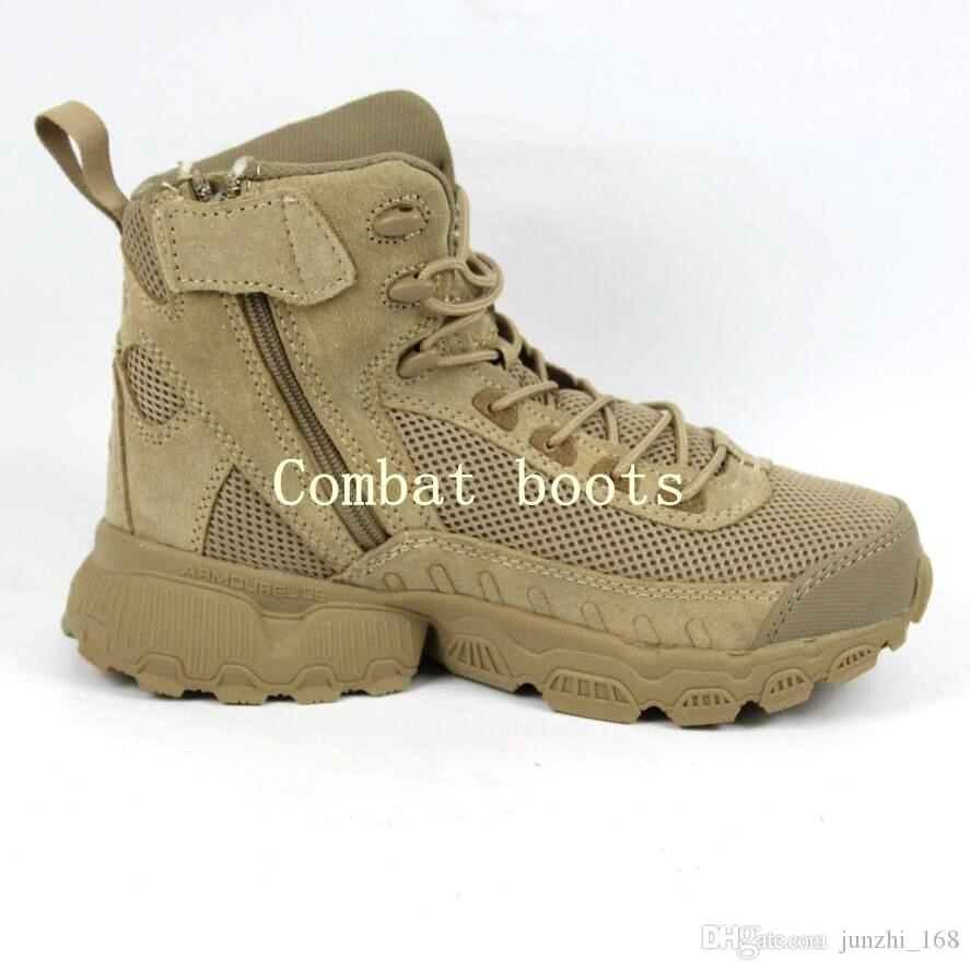 d2a3dd78b5 New The latest Men s nylon mesh Military Tactical Boots Desert Combat  Outdoor Army Hiking Travel Boots Leather Ankle Boots