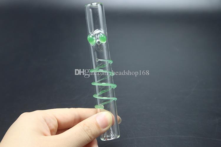 Vapor Mini vidro da tubulação de água de vidro colorido Rolos pirex de vidro queimadores a óleo Pipes tabaco para cachimbo Para pente Dab Rig melhor queimador de tubo
