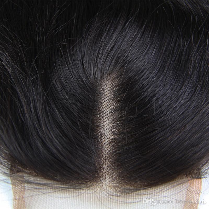 البرازيلي الماليزي الهندي بيرو الهندي المنغولية الشعر أعلى الدانتيل إغلاق 8-18 بوصة موجة الجسم غير المجهزة اللون الطبيعي شعر الإنسان إغلاق