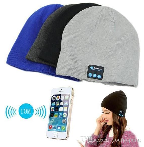 Fashion Beanie With Retail BOX Christmas Gift Bluetooth Music Soft Warm Hat With Stereo Headset Speaker Wireless Hands-free Cap