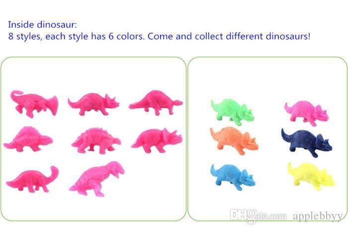 نفخ ماجيك الفقس ديناصور إضافة المياه المتنامية دينو البيض الطفل كيد لعبة 60 قطع 3 أسلوب الشحن المجاني