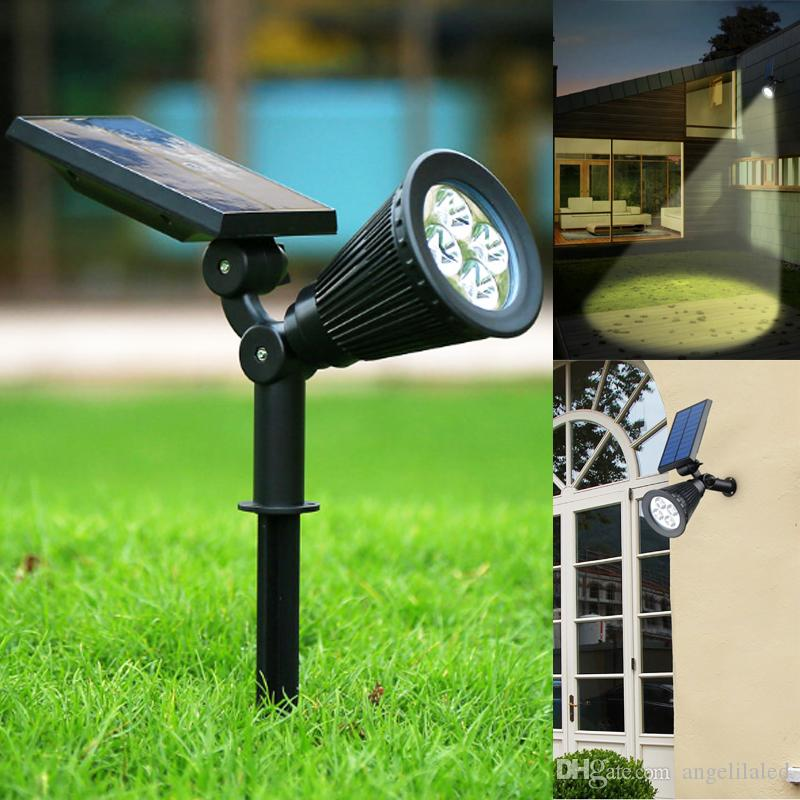 2 watts solar powered spotlight lamp outdoor lighting waterproof 2 watts solar powered spotlight lamp outdoor lighting waterproof garden lawn fence patio security wall lamp night light outdoor solar light decorations led aloadofball Image collections