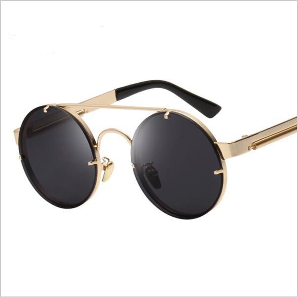 Personality Steampunk Sunglasses Womens 2016 Sunglasses Men'S Glasses Brand Round Sun Glasses Female Eyewears 9Ogyybfh