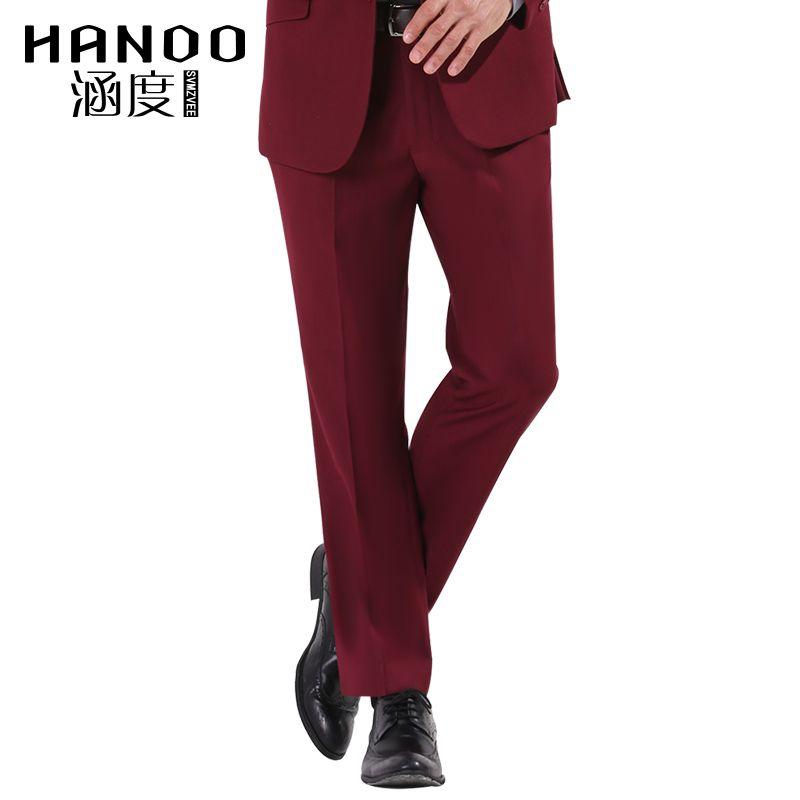 2017 2017 New Red Color Men Slim Fit Suits Business Pants ...