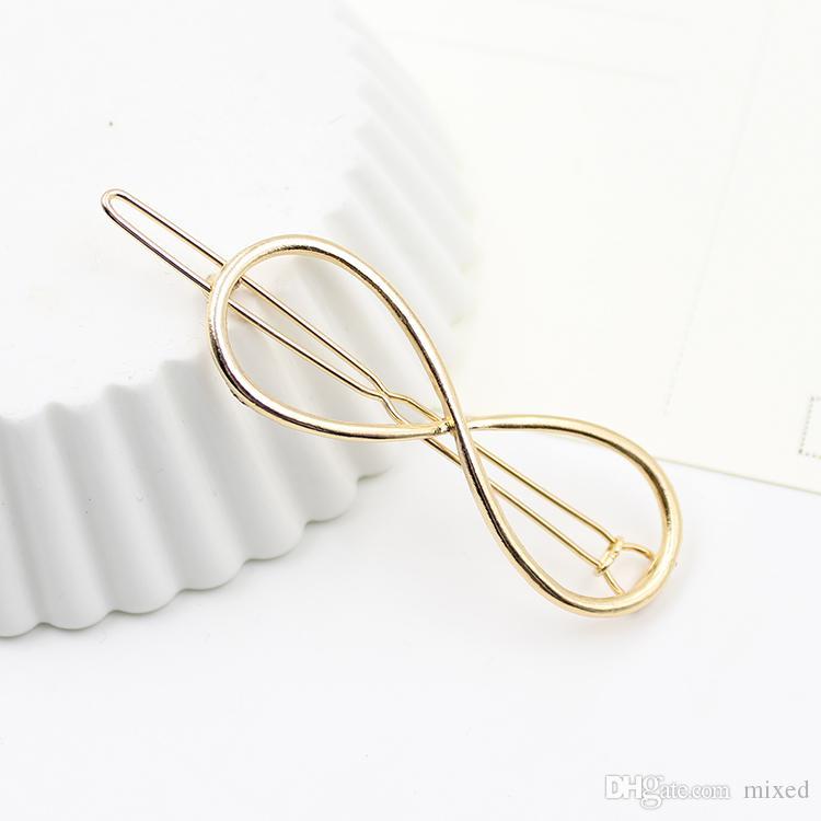 1 PZ Donne Infinity Oro Barrette Tornante Clip di Capelli Accessori capelli Fascia Dei Monili Dei Capelli Regalo Perfetto la signora